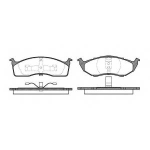 REMSA 0447.00 Комплект тормозных колодок, дисковый тормоз Крайслер Конкорд