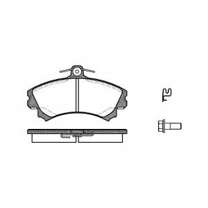 REMSA 0590.21 Колодка торм. MITSUBISHI COLT VII передн. (пр-во REMSA)