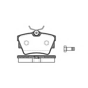 REMSA 0591.10 Колодка торм. VW TRANSPORTER III / IV 01.1996- задн. (пр-во REMSA)