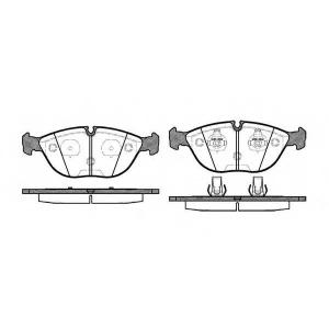REMSA 0597.00 Колодка торм. MB C-CLASS, VW GOLF V передн. (пр-во REMSA)
