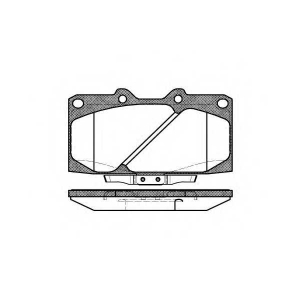 REMSA 0599.04 Колодки гальмівні дискові