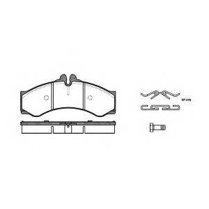 REMSA 0614.00 Колодка торм. MB SPRINTER (901, 902) передн. (пр-во REMSA)