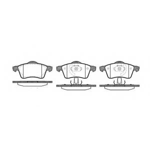 REMSA 0618.00 Колодка торм. VW T4 (70XB, 70XC, 7DB, 7DW) передн. (пр-во REMSA)