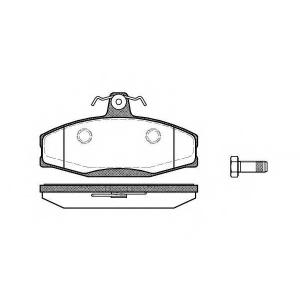 REMSA 0620.20 Колодка торм. SKODA FAVORIT, FORMAN, VW CADDY передн. (пр-во REMSA)