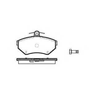 REMSA 0631.00 Колодка торм. VW CADDY II, GOLF IV передн. (пр-во REMSA)