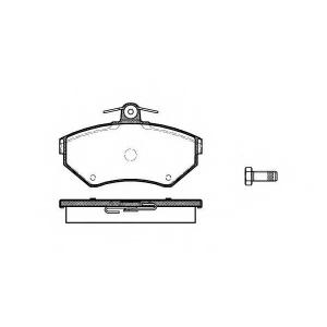 REMSA 0631.10 Колодка торм. AUDI A4,VW PASSAT (3B2) передн. (пр-во REMSA)