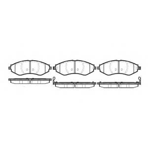 REMSA 0645.22 Колодка торм. CHEVROLET LACETTI передн. (пр-во REMSA)