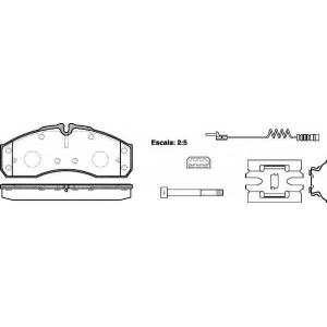 REMSA 0651.22 Колодки гальмівні дискові