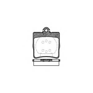 REMSA 0678.00 Колодка торм. MB C-CLASS (W202) задн. (пр-во REMSA)