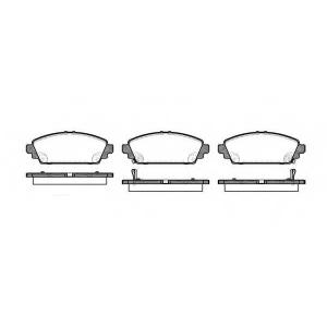 REMSA 070002 Комплект тормозных колодок, дисковый тормоз