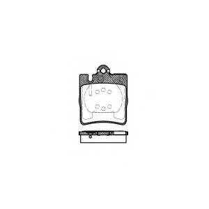 REMSA 0709.00 Колодка торм. MB E-CLASS (W210) задн. (пр-во REMSA)