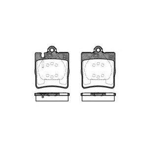 REMSA 0709.10 Колодка торм. MB C-CLASS (W203, S202), задн. (пр-во REMSA)