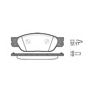 REMSA 073100 Комплект тормозных колодок, дисковый тормоз