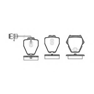 REMSA 0752.12 Колодка торм. AUDI A6 (4B, C5), A8 (4D2, 4D8, 4E_) передн. (пр-во REMSA)