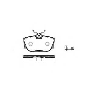 REMSA 0767.00 Колодка торм. VW T4 задн. (пр-во REMSA)
