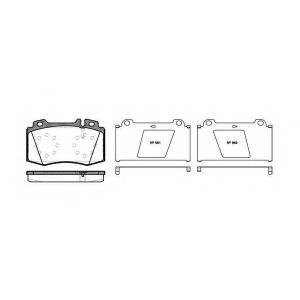 REMSA 0769.00 Колодка торм. MB M-CLASS (W163), S-CLASS (W220) передн. (пр-во REMSA)
