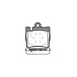REMSA 0770.00 Колодка торм. MB S-CLASS (W220), S-CLASS COUPE (C215) задн. (пр-во REMSA)