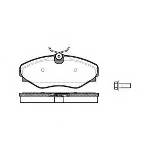 REMSA 0834.20 Колодка торм. RENAULT ESPACE III передн. (пр-во REMSA)