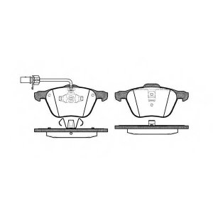 REMSA 0836.02 Колодка торм. FORD GALAXY (WGR), SEAT ALHAMBRA (7V8, 7V9), VW T4 передн. (без упаковки)(пр-во REMSA)