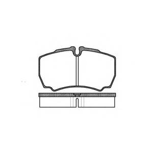 REMSA 0849.00 Колодка торм. IVECO DAILY III 29 06- задн. (пр-во REMSA)