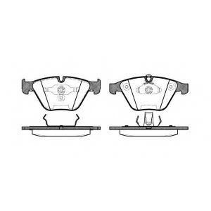 REMSA 0857.00 Колодка торм. BMW 3 (E90), 5 (E60) передн. (пр-во REMSA)