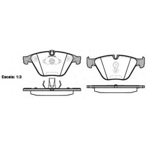 REMSA 0857.20 Колодка торм. BMW 5 (F10,F11) 2010-,6 (F12) 2011-,7(F01,F07) 08- передн. (пр-во REMSA)