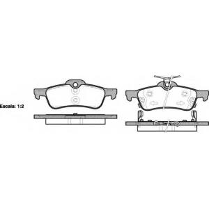 REMSA 0862.02 Колодки гальмівні дискові