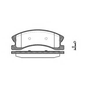 REMSA 0973.02 Колодки гальмівні дискові