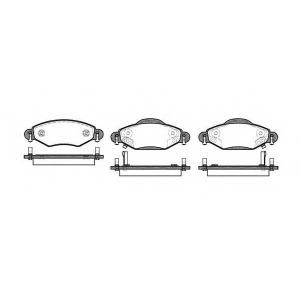 REMSA 0978.02 Колодки гальмівні дискові
