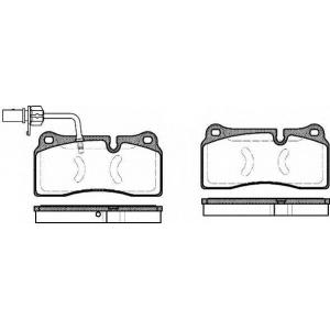 REMSA 0983.11 Комплект тормозных колодок, дисковый тормоз Ауди Р8