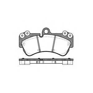 REMSA 0994.00 Колодка торм. PORSCHE,VW CAYENNE (955),TOUAREG (7LA, 7L6, 7L7), передн. (пр-во REMSA)