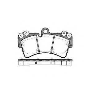 REMSA 0995.00 Колодка торм. AUDI Q7, PORSCHE CAYENNE, VW TOUAREG передн. (пр-во REMSA)