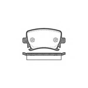 REMSA 1031.00 Колодка торм. AUDI A4, SEAT, SKODA,VW задн. (пр-во REMSA)