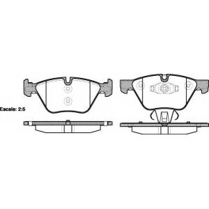 REMSA 1052.10 Колодка торм. BMW 1(E81/87) 05-,3(E90/91/92) 05- передн. (пр-во REMSA)