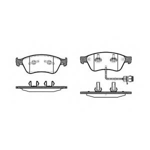 REMSA 1056.12 Колодки гальмівні дискові