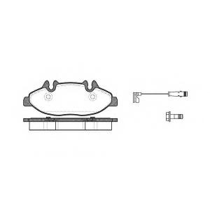 REMSA 1109.02 Колодка торм. MB VIANO (W639), VITO (W639) передн. (пр-во REMSA)