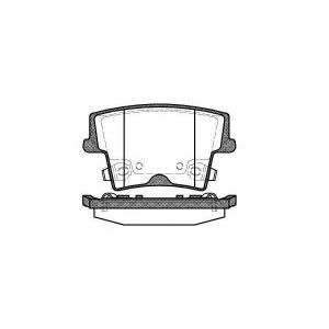 REMSA 1127.08 Тормозные колодки (пр-во Remsa)