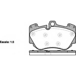 REMSA 1140.10 Комплект тормозных колодок, дисковый тормоз Ауди Р8