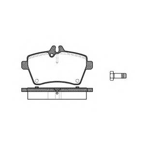 REMSA 1144.00 Колодка торм. MB A-CLASS(W169) 160-200 04-,B-CLASS(W245) 150-180 05- передн. (пр-во REMSA)