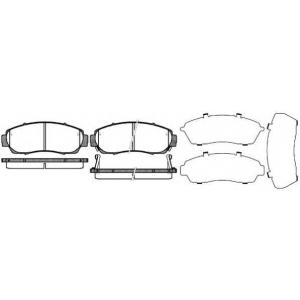 REMSA 1171.12 Колодка торм. HONDA CR-V передн. (пр-во REMSA)