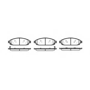 REMSA 1173.02 Колодки гальмівні дискові