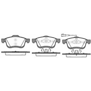 REMSA 1183.01 Колодка торм. FIAT DOBLO передн. (пр-во REMSA)