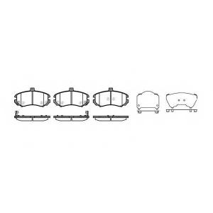 REMSA 119402 Колодки тормозные, комплект SP1152 , GDB3431 , 581012DA50