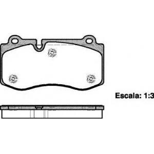 REMSA 1202.00 Колодка торм. MB E-CLASS W211, S-CLASS E W221 передн. (пр-во REMSA)