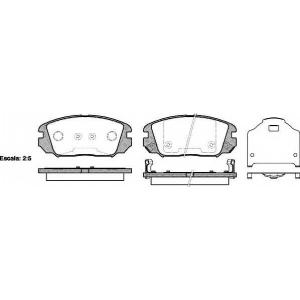 REMSA 1204.02 Колодка торм. HYUNDAI SONATA, HONDA CIVIC передн. (пр-во REMSA)