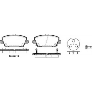 REMSA 1205.02 Колодка торм. HONDA CIVIC, передн. (пр-во REMSA)