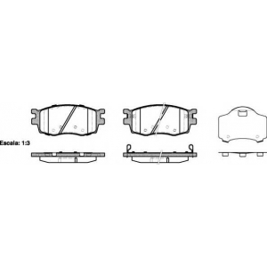 REMSA 1208.02 Колодка торм. HYUNDAI ACCENT, KIA RIO II передн. (пр-во REMSA)