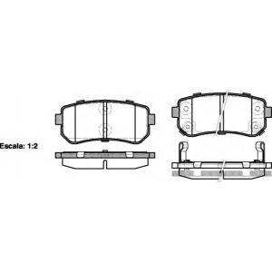 REMSA 1209.02 Колодка торм. HYUNDAI ACCENT, i30, задн. (пр-во REMSA)