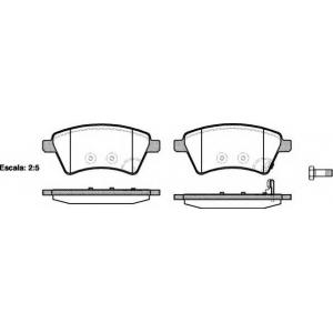 REMSA 1215.01 Колодка торм. SUZUKI SX4 передн. (пр-во REMSA)
