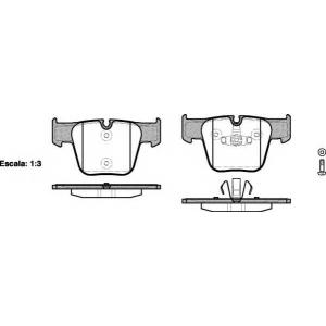 REMSA 121800 Комплект тормозных колодок, дисковый тормоз